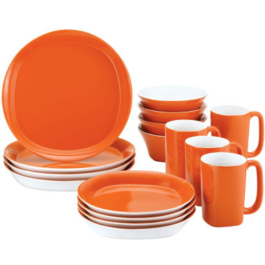 jcpenney.com | Rachael Ray® Round & Square 16-pc. Dinnerware Set