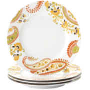 Rachael Ray® Set of 4 Paisley Salad Plates