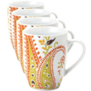 Rachael Ray® Set of 4 Paisley Mugs