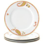 Rachael Ray® Set of 4 Paisley Dinner Plates