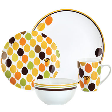 jcpenney.com | Rachael Ray® Little Hoot 4-pc. Place Setting
