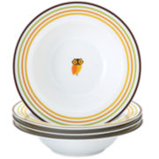 Rachael Ray® Set of 4 Little Hoot Pasta Bowls