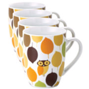 Rachael Ray® Set of 4 Little Hoot Mugs