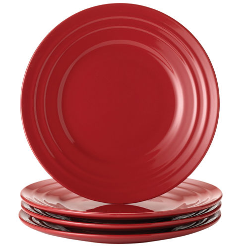 Rachael Ray® Set of 4 Double Ridge Salad Plates