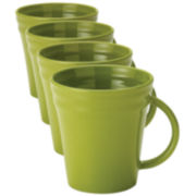 Rachael Ray® Set of 4 Double Ridge Mugs