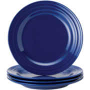 Rachael Ray® Set of 4 Double Ridge Dinner Plates