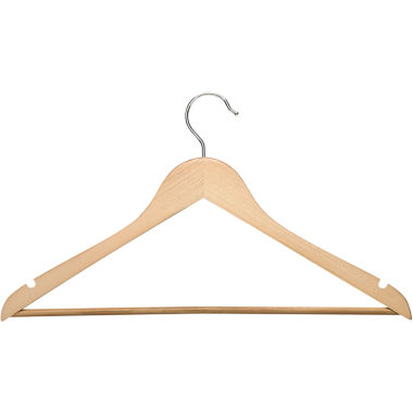 jcpenney.com | Honey-Can-Do® 8-Pack Maple Wood Suit Hangers Nonslip Bar