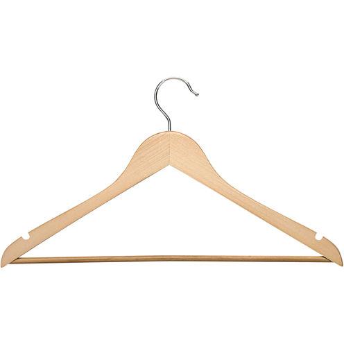 Honey-Can-Do® 8-Pack Maple Wood Suit Hangers Nonslip Bar