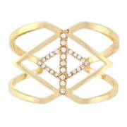 nicole by Nicole Miller® Pavé Crystal Hinged Gold-Tone Cuff Bracelet