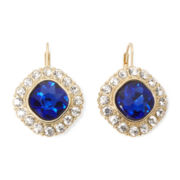 Monet® Blue and Clear Crystal Drop Earrings