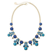 Liz Claiborne® Blue and Black Stone Gold-Tone Shower Statement Necklace