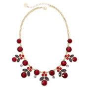 Liz Claiborne® Red Stone Gold-Tone Shower Statement Necklace