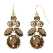 Liz Claiborne® Yellow Stone Gold-Tone Chandelier Earrings