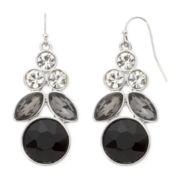 Liz Claiborne® Black Chandelier Earrings