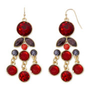 Liz Claiborne® Red Chandelier Earrings
