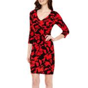 Worthington® 3/4-Sleeve Print Sheath Dress