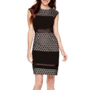 Studio 1® Sleeveless Lace Sheath Dress
