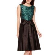 R&K Originals® Sleeveless Jacquard Fit-and-Flare Dress
