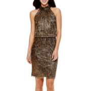 London Style Collection Sleeveless Blouson Dress