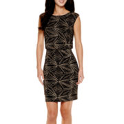Scarlett Sleeveless Glitter Blouson Dress