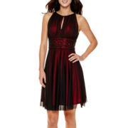 La Nouvelle Renaissance Sleeveless Beaded Fit-and-Flare Dress