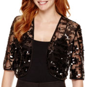 Studio 1® 3/4-Sleeve Sequin Bolero Shrug