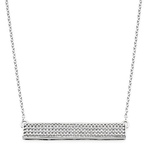 1/4 CT. T.W. Diamond 10K White Gold Bar Necklace