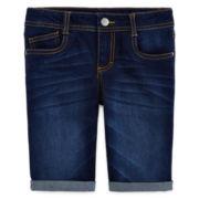 Total Girl® Denim Bermuda Shorts - Girls 7-16 and Plus