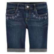 Total Girl® Embellished Bermuda Shorts - Girls 7-16 and Plus