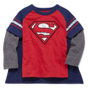 Superman Long-Sleeve Graphic Tee with Cape - Toddler Boys 2t-5t