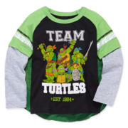 Teenage Mutant Ninja Turtles Graphic Tee with Cape - Toddler Boys 2t-5t