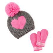 Carter's® Heart Hat and Mittens Set - Baby Girls 12m-24m