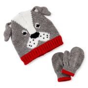 Carter's® Dog Hat and Mittens Set - Baby Boys 3m-9m
