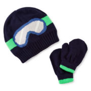 Carter's® Ski Goggle Hat and Mittens Set - Baby Boys 12m-24m
