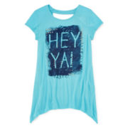 Arizona Embellished Keyhole Tee - Girls 7-16 and Plus