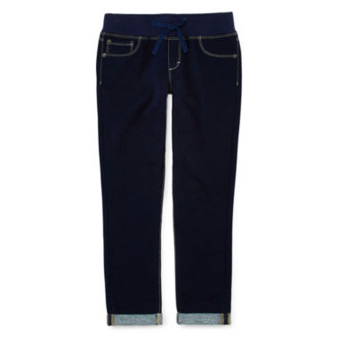 jcpenney.com | Arizona Knit-Waist Cropped Jeans - Girls 7-16 andPlus