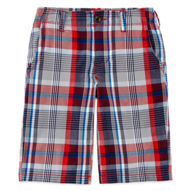 jcpenney.com | Arizona Plaid Chino Shorts - Boys 8-20, Husky and Slim