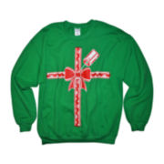 Gift Long-Sleeve Graphic Fleece Sweatshirt