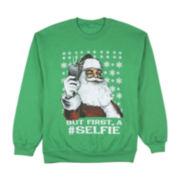 Santa Selfie Graphic Fleece Sweatshirt