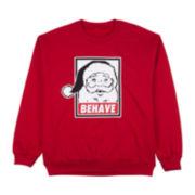 Santa Behave Graphic Fleece Sweatshirt