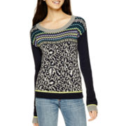 Arizona Long-Sleeve Fair Isle Animal Sweater