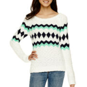 Arizona Long-Sleeve Popo Sweater  - Juniors