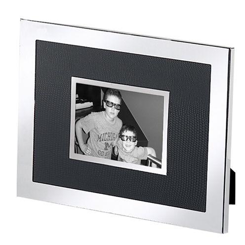 "Natico Black and Silver-Tone 2x3"" Picture Frame"