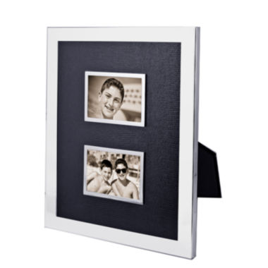"jcpenney.com | Natico Black and Silver-Tone Double 2x3"" Picture Frame"