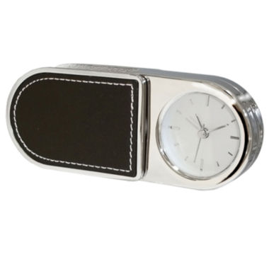 jcpenney.com | Natico Portable Folding Alarm Clock with Leather Trim