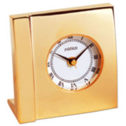 Natico Gold Boutique Desk Alarm Clock