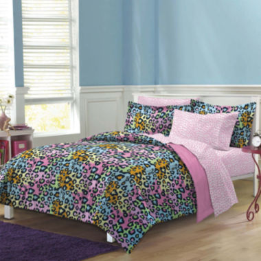 jcpenney.com | My Room Neon Leopard Complete Bedding Set with Sheets