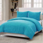 Victoria Classics Rose Plush Comforter Set