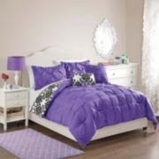 Victoria Classics Emma Pintuck Damask Reversible Comforter Set
