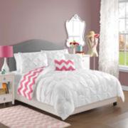 Victoria Classics Kara Pintuck Chevron Reversible Comforter Set